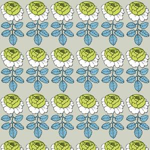 マリメッコ ファブリック マーライスルース(Maalaisruusu)サンドベージュ【北欧雑貨/北欧生地】の生地画像