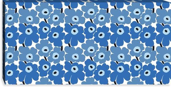 マリメッコ ファブリックパネル ミニウニッコ(Mini Unikko)450×900×30mm【北欧雑貨/北欧生地】ブルーの画像