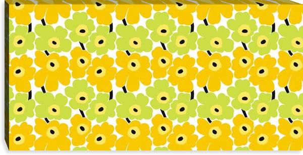 マリメッコ ファブリックパネル ミニウニッコ(Mini Unikko)450×900×30mm【北欧雑貨/北欧生地】イエローライムの画像