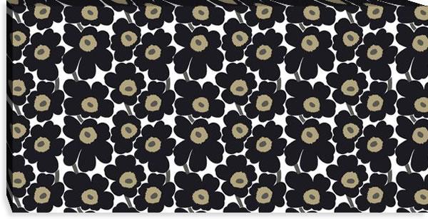 マリメッコ ファブリックパネル ミニウニッコ(Mini Unikko)450×900×30mm【北欧雑貨/北欧生地】ブラックの画像