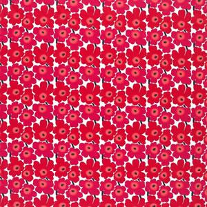 マリメッコ ファブリック ミニウニッコ(Mini Unikko)【北欧雑貨/北欧生地】レッドの画像