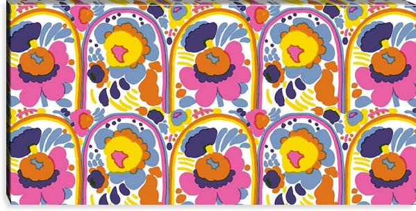 マリメッコ ファブリックパネル ピエニ カルセッリ(Pieni Karuselli)600×1200×30mm【北欧雑貨/北欧生地】ホワイトの画像