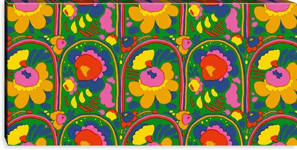 マリメッコ ファブリックパネル ピエニ カルセッリ(Pieni Karuselli)600×1200×30mm【北欧雑貨/北欧生地】グリーンの画像