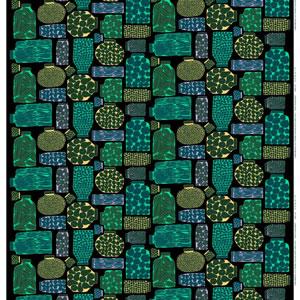 マリメッコ ファブリック ピエニ プルヌッカ(Pieni Purnukka)【北欧雑貨/北欧生地】グリーンの生地画像