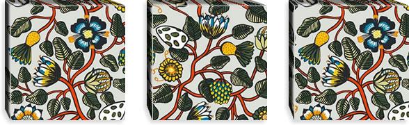 マリメッコ ファブリックパネル ピエニ ティアラ(Pieni Tiara)300×300×30mm×3枚【北欧雑貨/北欧生地】マルチの画像