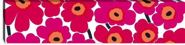 マリメッコ ファブリックパネル ピエニ ウニッコ2(Pieni Unikko2)300×1200×30mm【北欧雑貨/北欧生地】レッドの画像