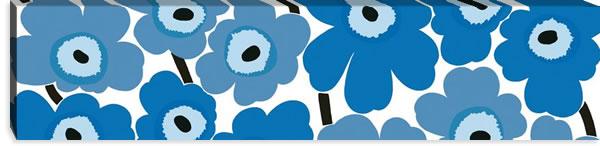 マリメッコ ファブリックパネル ピエニ ウニッコ2(Pieni Unikko2)300×1200×30mm【北欧雑貨/北欧生地】ブルーの画像