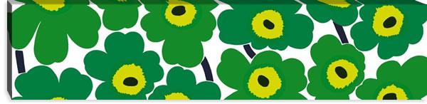 マリメッコ ファブリックパネル ピエニ ウニッコ2(Pieni Unikko2)300×1200×30mm【北欧雑貨/北欧生地】グリーンの画像