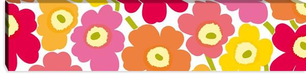 マリメッコ ファブリックパネル ピエニ ウニッコ2(Pieni Unikko2)300×1200×30mm【北欧雑貨/北欧生地】マルチの画像