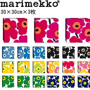 マリメッコ ファブリックパネル ピエニ ウニッコ2(Pieni Unikko2)300×300×30mm×3枚【北欧雑貨/北欧生地】各カラーの画像