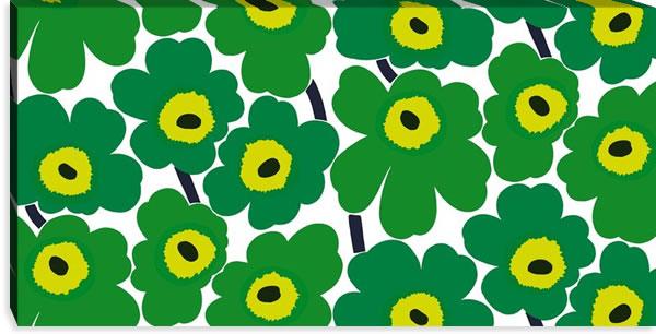 マリメッコ ファブリックパネル ピエニ ウニッコ2(Pieni Unikko2)600×1200×30mm【北欧雑貨/北欧生地】グリーンの画像