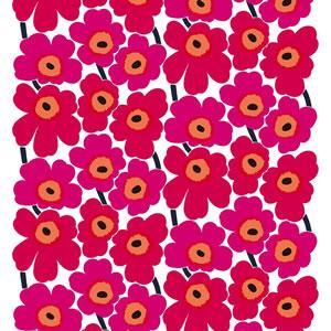 マリメッコ ファブリック ピエニ ウニッコ2(Pieni Unikko2)【北欧雑貨/北欧生地】レッドの画像
