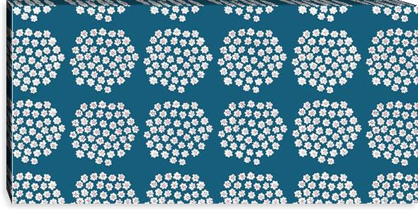マリメッコ ファブリックパネル プケッティ(Puketti)450×900×30mm【北欧雑貨/北欧生地】ブルーの画像