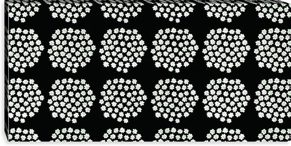 マリメッコ ファブリックパネル プケッティ(Puketti)450×900×30mm【北欧雑貨/北欧生地】ブラックの画像