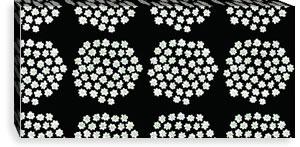 マリメッコ ファブリックパネル プケッティ(Puketti)300×600×30mm【北欧雑貨/北欧生地】ブラックの画像