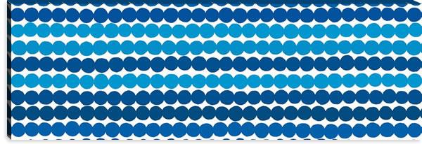 マリメッコ ファブリックパネル ラシィマット(Rasymatto)450×1350×30mm【北欧雑貨/北欧生地】ブルーの詳細画像