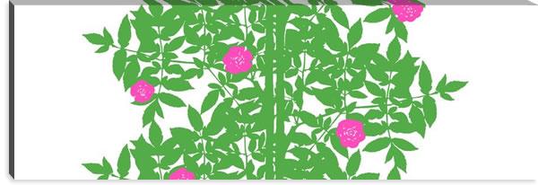マリメッコ ファブリックパネル ルースプー(Ruusupuu)450×1350×30mm【北欧雑貨/北欧生地】ライムグリーンの画像