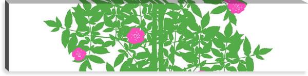 マリメッコ ファブリックパネル ルースプー(Ruusupuu)300×1200×30mm【北欧雑貨/北欧生地】ライムグリーンの画像