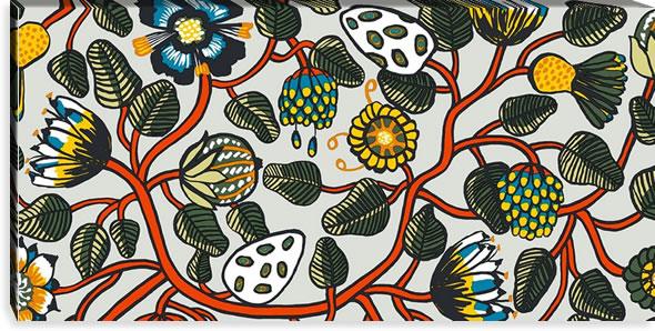 マリメッコ ファブリックパネル ティアラ(Tiara)600×1200×30mm【北欧雑貨/北欧生地】マルチの画像