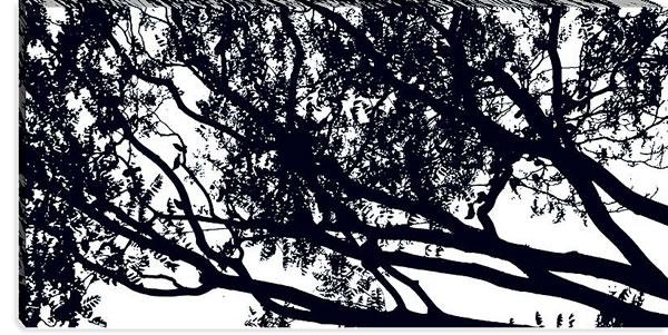 マリメッコ ファブリックパネル トゥーリ(Tuuli)600×1200×30mm【北欧雑貨/北欧生地】ブラックの詳細画像