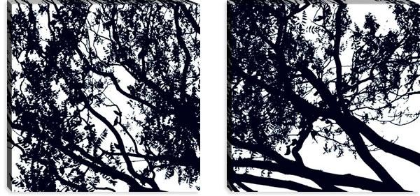 マリメッコ ファブリックパネル トゥーリ(Tuuli)600×600×30mm×2枚【北欧雑貨/北欧生地】ブラックの詳細画像
