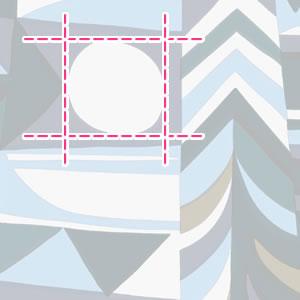 マリメッコ(marimekko)生地(ファブリック)クーンサデ(Kuunsade)【10cm単位販売】の詳細サイズ画像