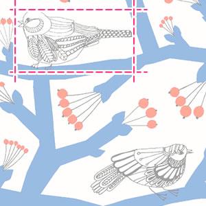 マリメッコ(marimekko)生地(ファブリック)ピックパッカネン(Pikkupakkanen)【10cm単位販売】の詳細サイズ画像