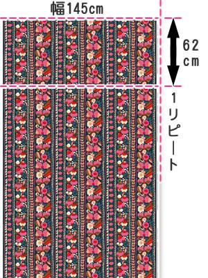 マリメッコ(marimekko)生地(ファブリック)トゥップライネン(Tuppurainen)ピンクの全体画像