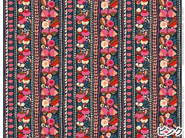 マリメッコ(marimekko)生地(ファブリック)トゥップライネン(Tuppurainen)ピンクの1リピート詳細画像