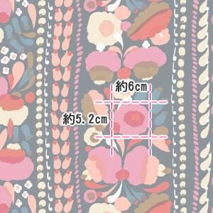 マリメッコ(marimekko)生地(ファブリック)トゥップライネン(Tuppurainen)ピンクの部分サイズ詳細画像