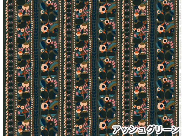 マリメッコ(marimekko)生地(ファブリック)トゥップライネン(Tuppurainen)ネイビーの1リピート詳細画像