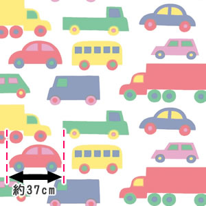 マリメッコ(marimekko)BoBoo(ブブー)の生地(ファブリック)詳細サイズ画像