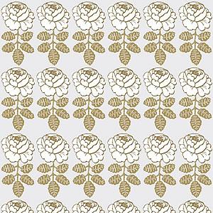 マリメッコ(marimekko)マーライスルース(MAALAISRUUSU)ゴールド サテン地の生地(ファブリック)全体画像