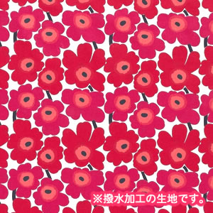 マリメッコ(marimekko)テーブルクロス(生地)ミニウニッコ(Mini-Unikko)レッド【撥水加工/10cm単位販売】の詳細画像