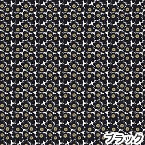 マリメッコ(marimekko)生地(ファブリック)ミニウニッコ(Mini-Unikko)ブラックの詳細画像