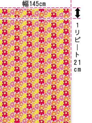 マリメッコ(marimekko)生地(ファブリック)ミニウニコト(Mini-Unikkot)マルチの全体画像