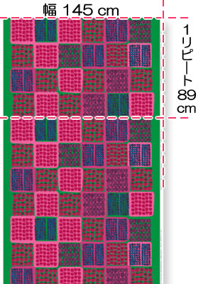 マリメッコ(marimekko)ムンモラン マルヤット(Mummolan marjat)の生地(ファブリック)画像