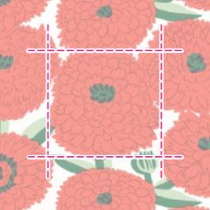 マリメッコ(marimekko)プリマヴェーラ(Primavera)レッドの生地(ファブリック)詳細サイズ画像