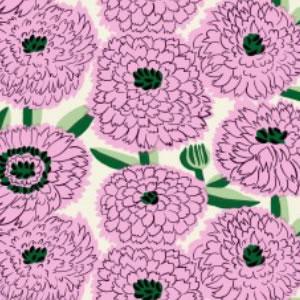 マリメッコ(marimekko)プリマヴェーラ(Primavera)ピンクの生地(ファブリック)詳細画像