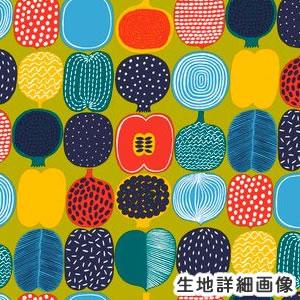 マリメッコ(marimekko)コンポッティ(KOMPOTTI)グリーンの生地(ファブリック)詳細画像