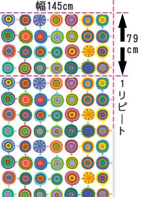 マリメッコ(marimekko)ラップリーサ(LAPPULIISA)ホワイトの生地(ファブリック)画像