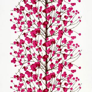 マリメッコ(marimekko)ルミマルヤ(Lumimarja)ピンクの生地(ファブリック)全体画像