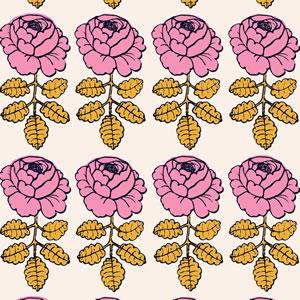 マリメッコ(marimekko)マーライスルース(MAALAISRUUSU)ピンクの生地(ファブリック)詳細画像