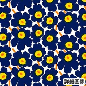 マリメッコ(marimekko)生地(ファブリック)ミニウニッコ(Mini-Unikko)ネイビーのズームアップ画像