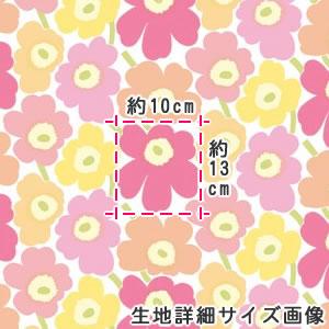マリメッコ(marimekko)ミニウニコト(Mini-Unikkot)の生地(ファブリック)詳細サイズ画像