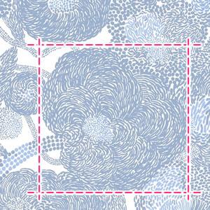 マリメッコ(marimekko)ミンステリ(Mynsteri)の生地(ファブリック)ブルーの詳細サイズ画像