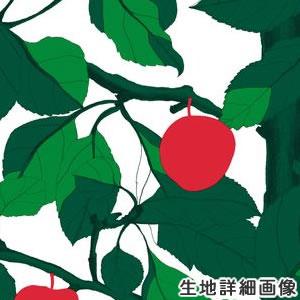 マリメッコ(marimekko)オンネン・オメナプー(Onnen-Omenapuu)の生地(ファブリック)詳細画像