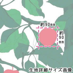 マリメッコ(marimekko)オンネン・オメナプー(Onnen-Omenapuu)の生地(ファブリック)詳細サイズ画像