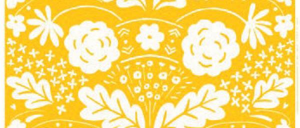 マリメッコ(marimekko)生地(ファブリック)オンニ(Onni)【10cm単位販売】イエローの全体画像