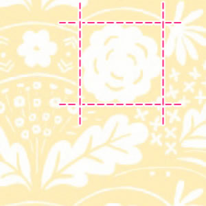 マリメッコ(marimekko)生地(ファブリック)オンニ(Onni)【10cm単位販売】イエローの詳細サイズ画像